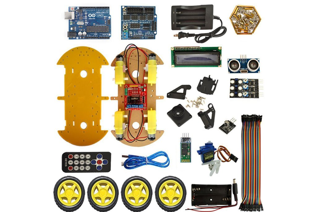 4WD RC Robot Car Kit with Bluetooth 1