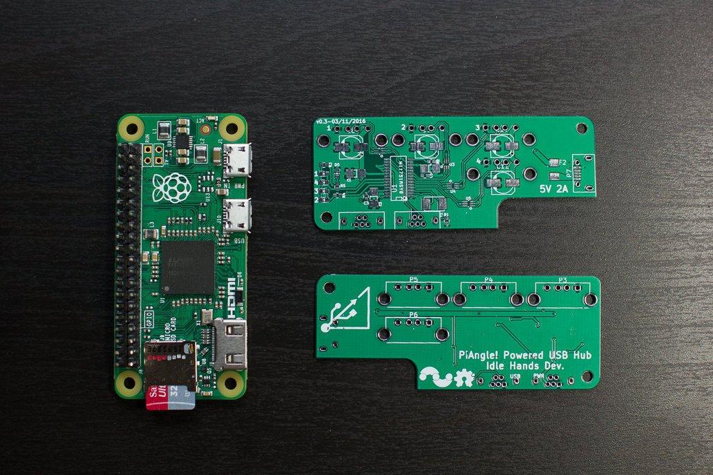 PiAngle - Plug-n-play Pi Zero USB Hub - Board Only 1
