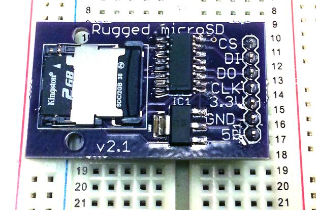 Locking microSD Card Breakout (3.3v/5v)