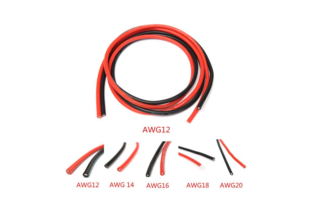 Soft Silicone Flexible Wire Cable 12-20 AWG 4