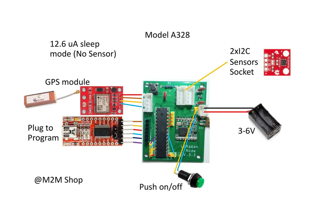 Low power LoRaWan Node Model A328 7