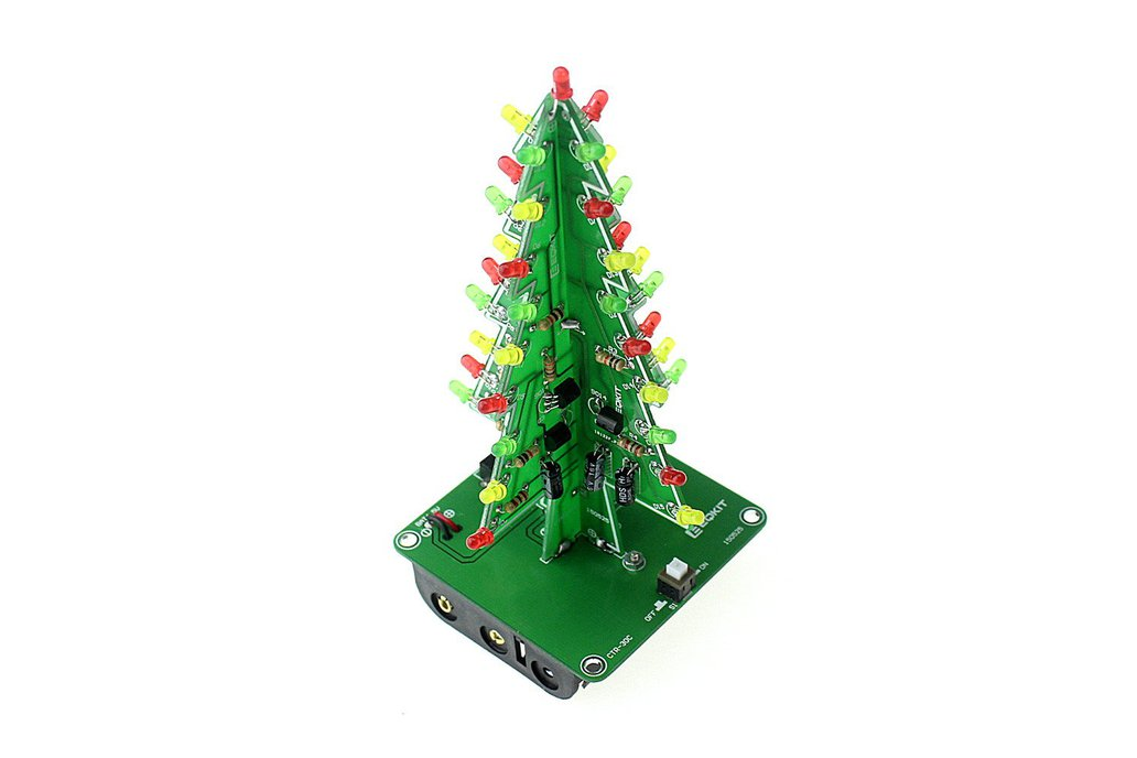 DIY Flashing LED Christmas Tree Circuit Kit(7212) 3