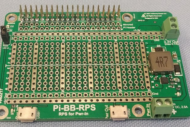 Pi-BB-RPS: DC-DC converter, RPS and more for Pi