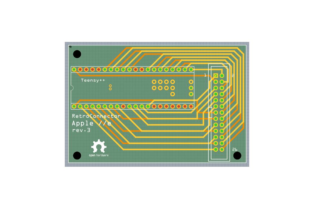 RetroConnector keyboard shield for Apple IIe - kit 5