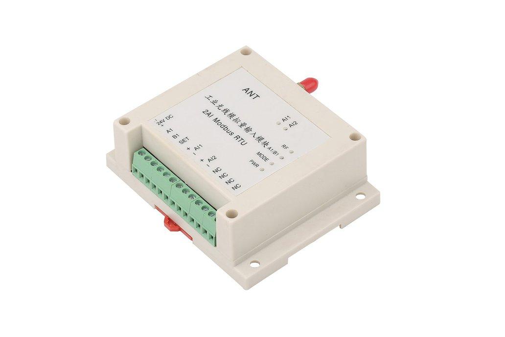 Wireless RTU 2AI, 433MHz 0-5V or 4-20mA 1