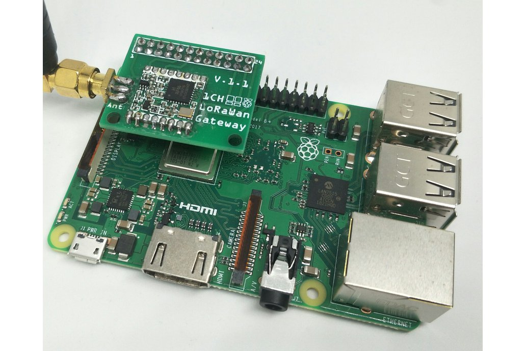 1 Channel LoRaWan Gateway Shield for Raspberry Pi 1