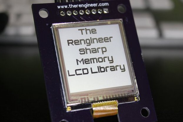 Sharp Memory LCD Breakout and Library