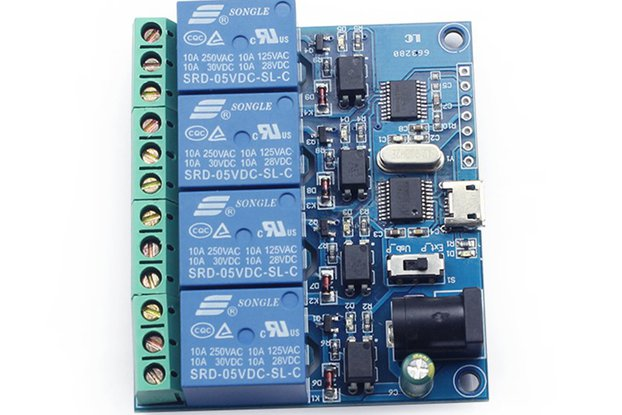 5v 4 channel relay controller switch module