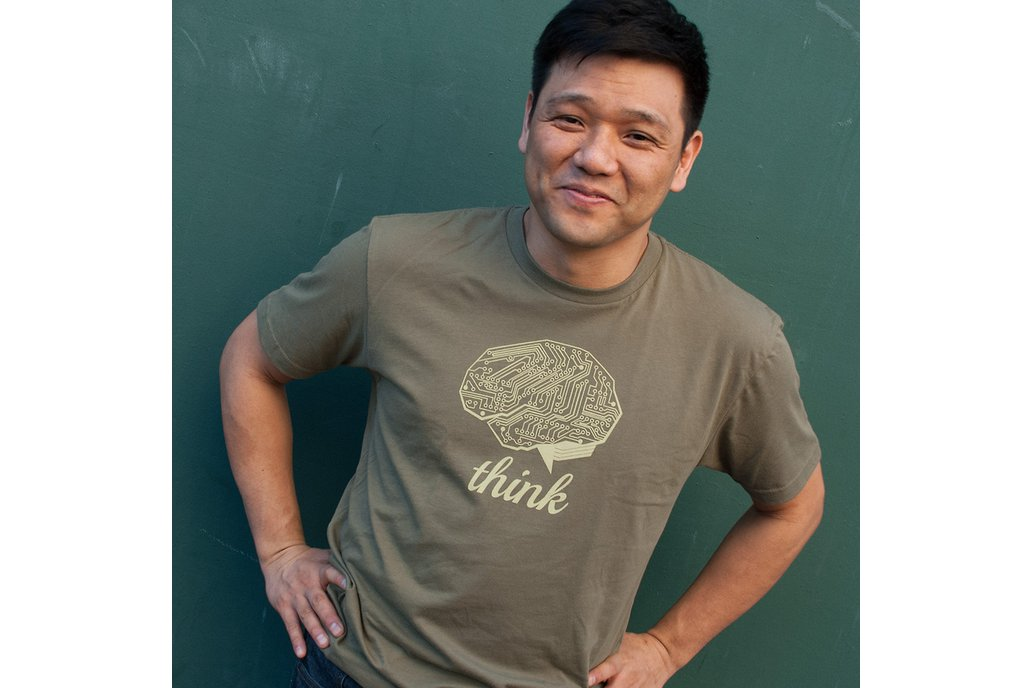 THINK TECH (Olive Green) -  Graphic T-shirt 1