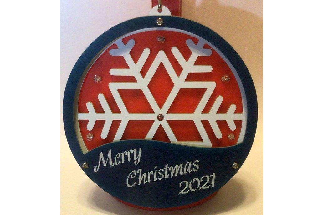 3D RGB Snowflake Ornament 1