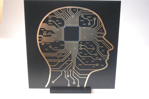 Micro Chip Brain / Black Hole PCB art version 2.0