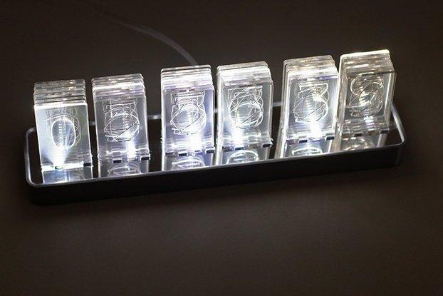 NIXT CLOCK Kit - Acrylic Nixie Led Clock Edge Lit