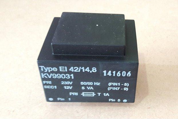 12V 5VA PCB Mount Transformer (230V)
