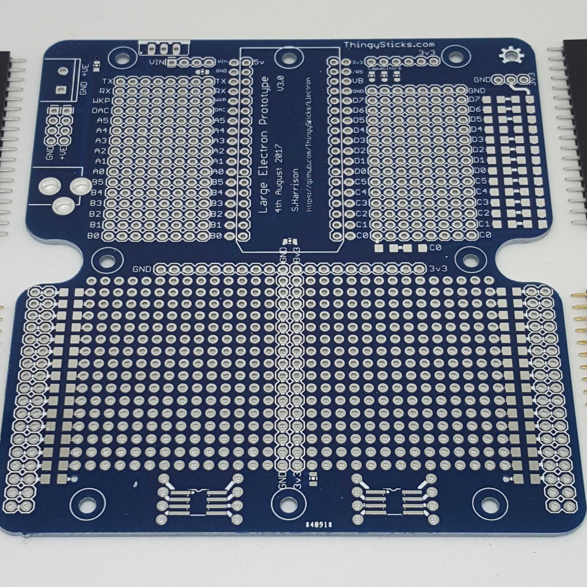 Photon/Electron Prototyping PCB for IP67 Enclosure from