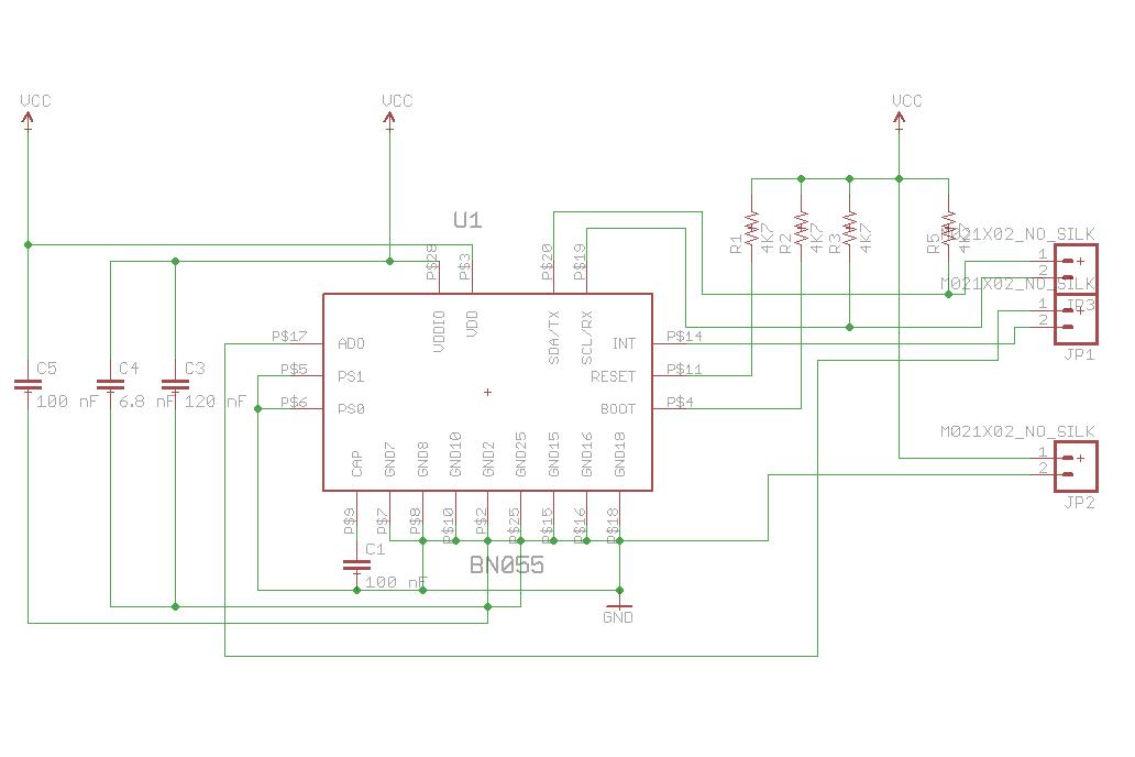 Wearable BNO055 Nano Board 3
