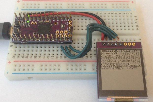 Sharp 128 x 128 Memory Display