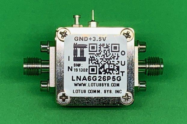 Amplifier LNA 2.5dB NF 6 - 26.5 GHz
