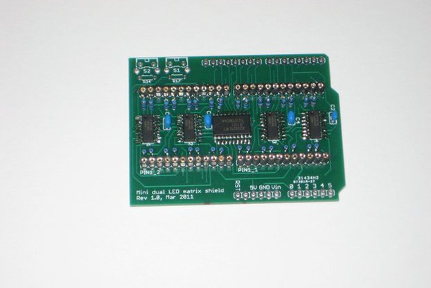 Dual LED matrix shield DIY kit with SMD