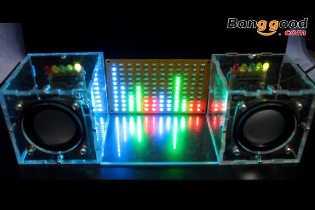 LED Flashing Music Spectrum & DIY Amp Speaker Kit