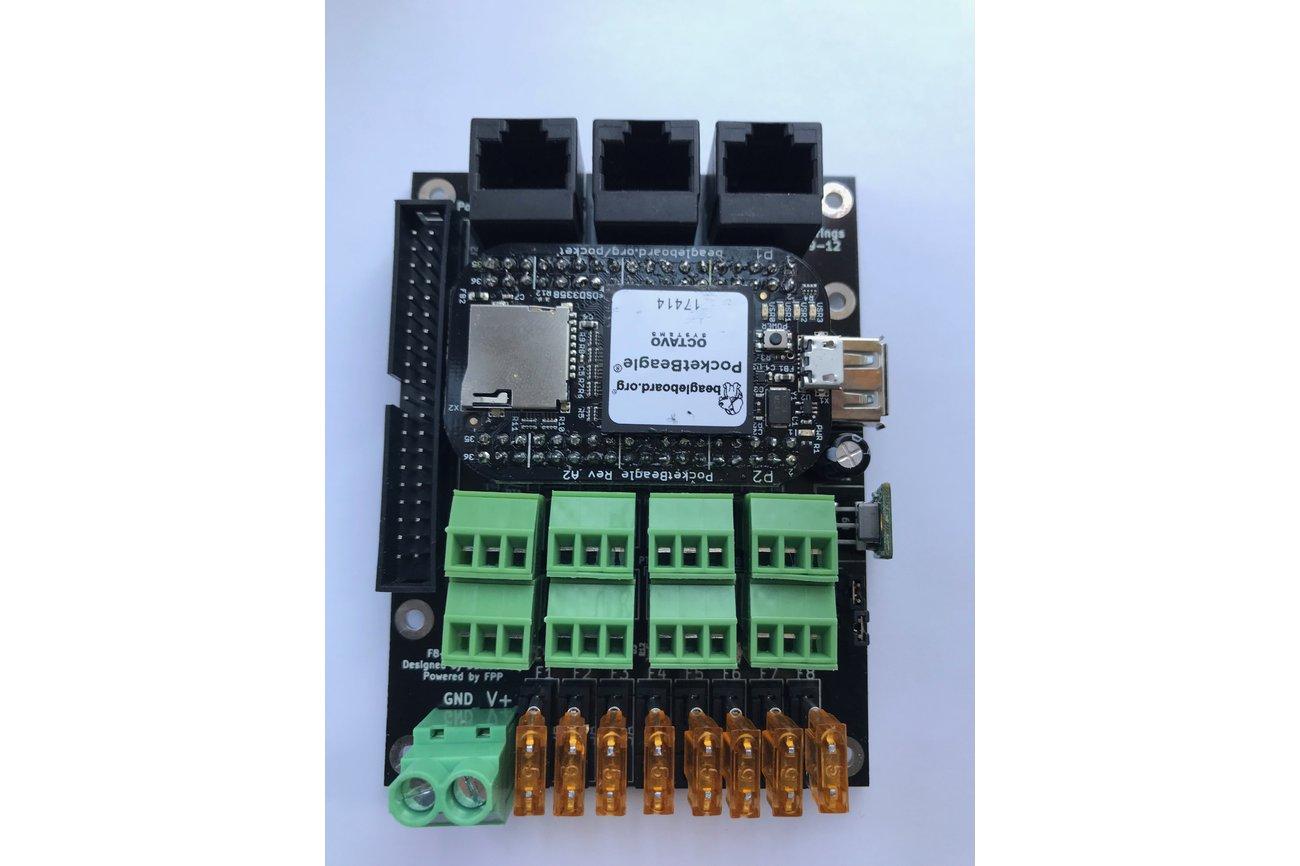 F8-PB LED Pixel Controller for PocketBeagle