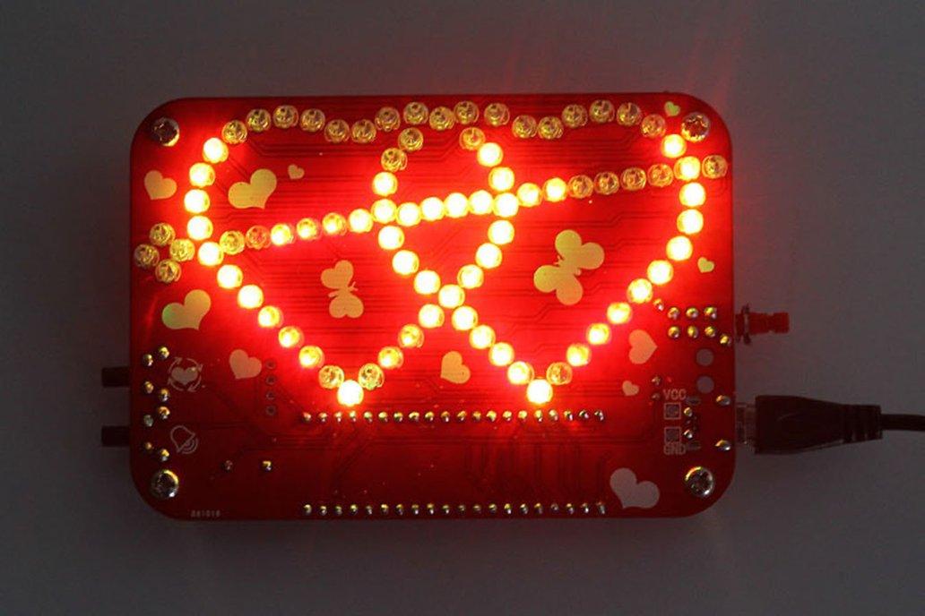 RGB LED Heart-Shaped Flashing Light Kit (13054) 6