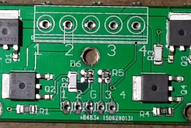 4-CH 2.5V logic level MOSFET board 20A,20V