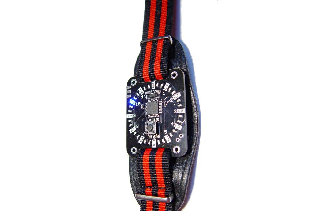 Blue led ring circle display wristwatch 4