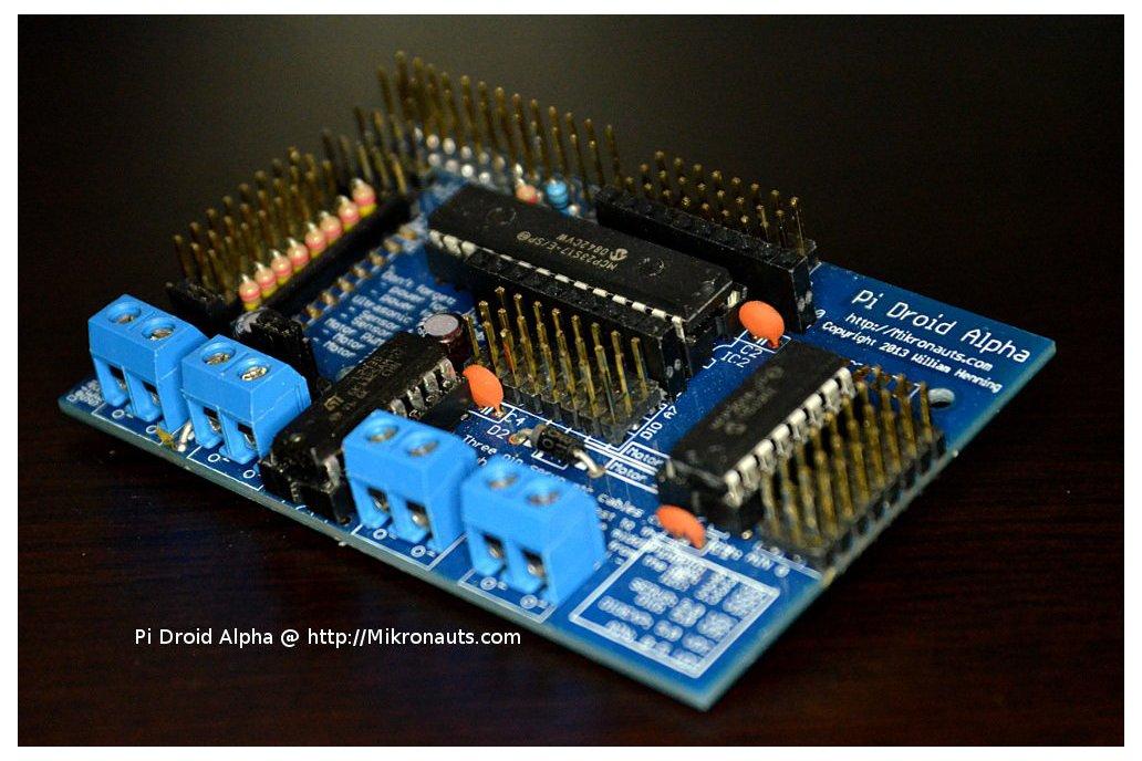 PiDroidAlpha Educational Controller 4 Raspberry Pi 1