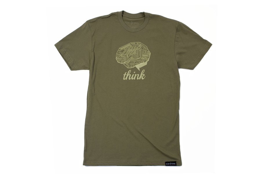 THINK TECH  - Mens Fashion Fitted Graphic T-shirt