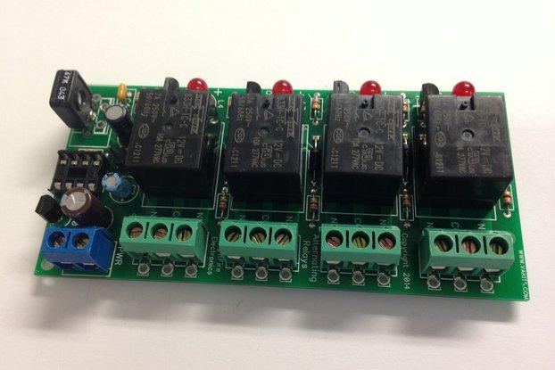 Adjustable Alternating 4 Relays Kit, 12v (#5458)