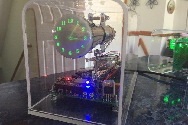 """Oscilloscope Clock 2"""" Cathode Ray Tube 5LO38i OSC7"""
