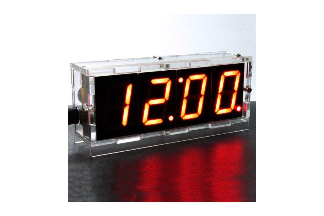 DIY 4 Digit LED Electronic Clock Kit Large Screen  5