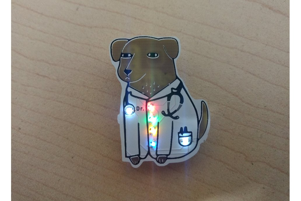 Dogtor pin badge 1