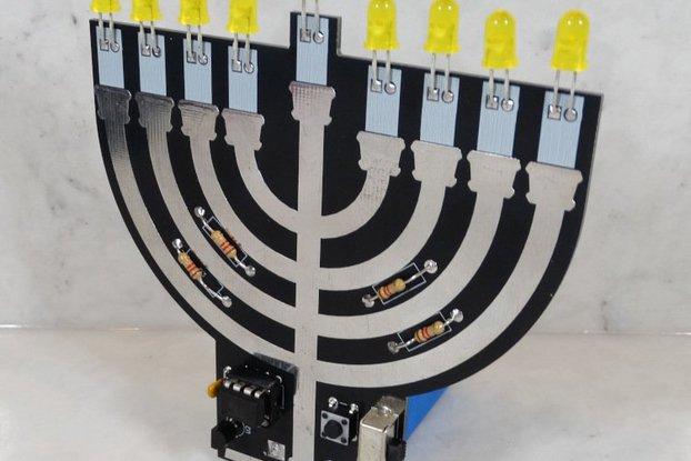 Hanukkah Menorah - Soldering Practice Kit