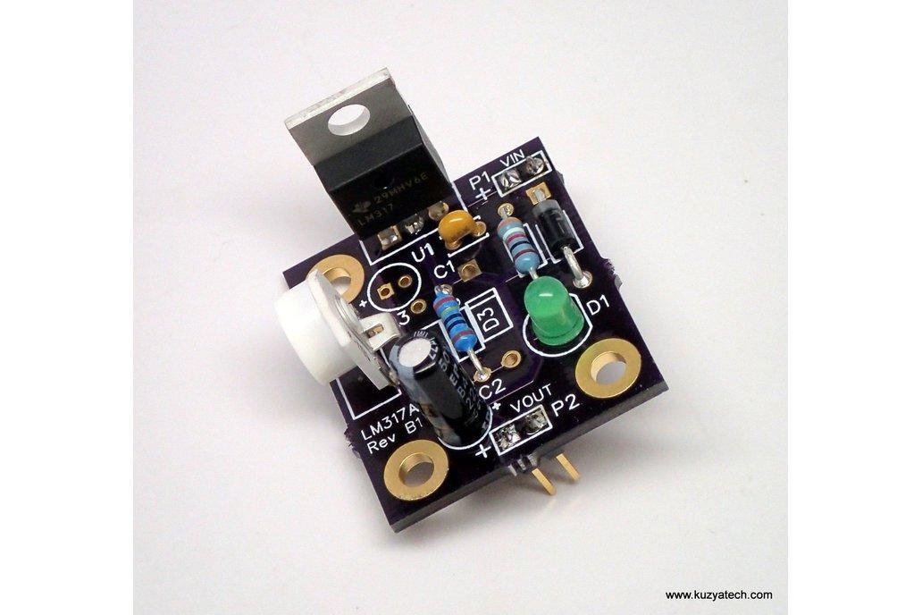 Adjustable LM317 kit, Arduino pre-regulator 3
