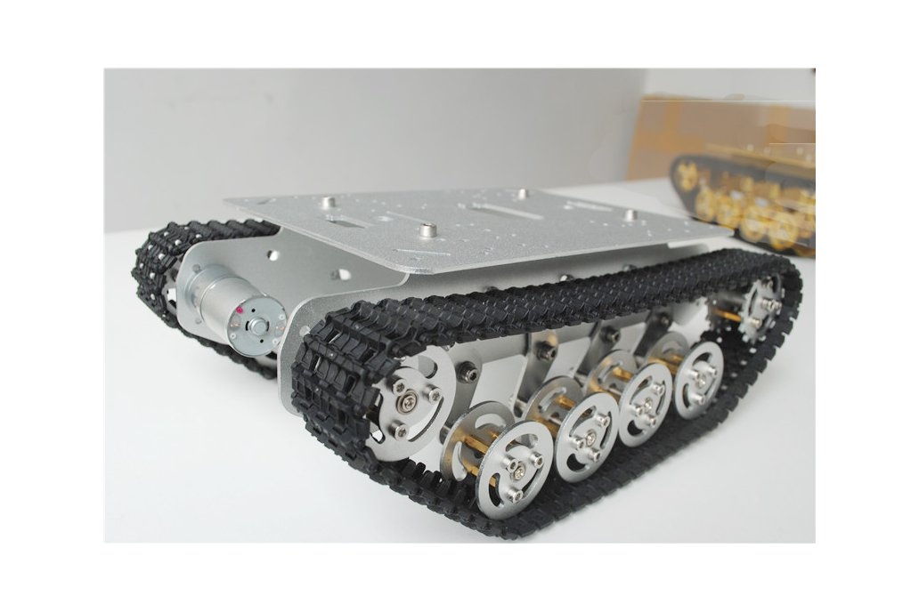 Metal Shock Absorption Robot Tracked Tank Car 4