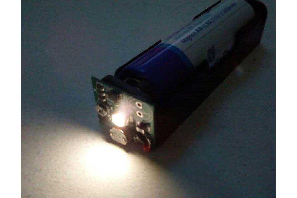 Tiny Thief toroid-less joule thief night light 6