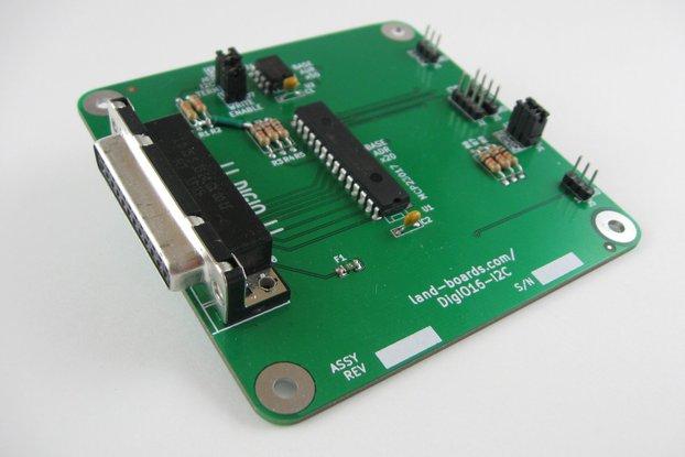 16 Channel Digital I/O Card (DigIO16-I2C)