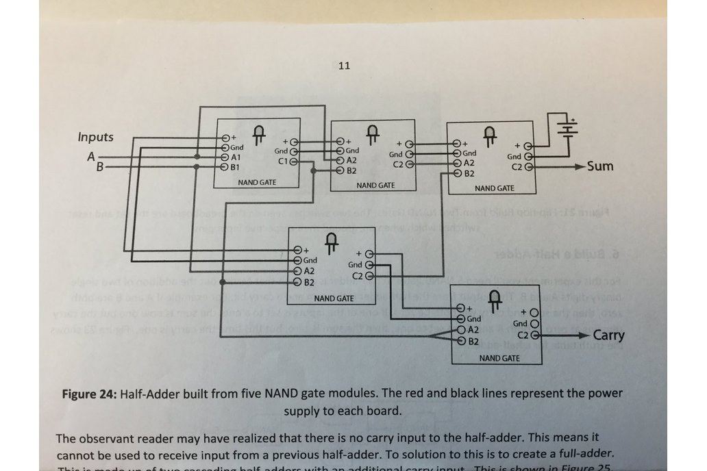 Half-Adder Built from Transistor/NAND Gates 5