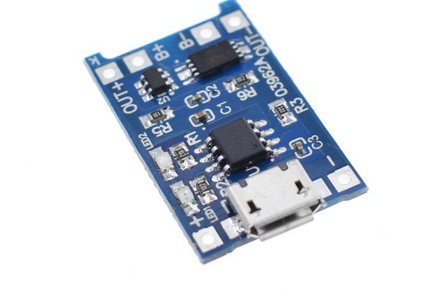 Micro USB 18650 Lithium Battery Charging Board