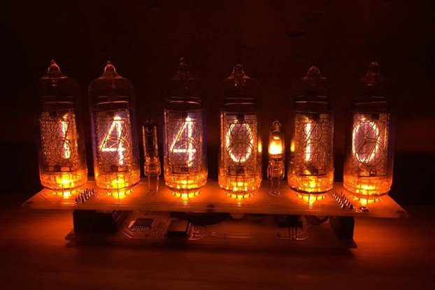 Fully assembled Nixie Tube Clock