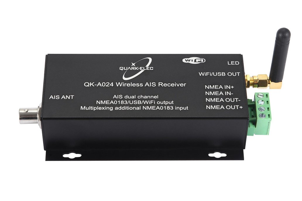 QK-A024-AIS Receiver, dual channel with WiFi