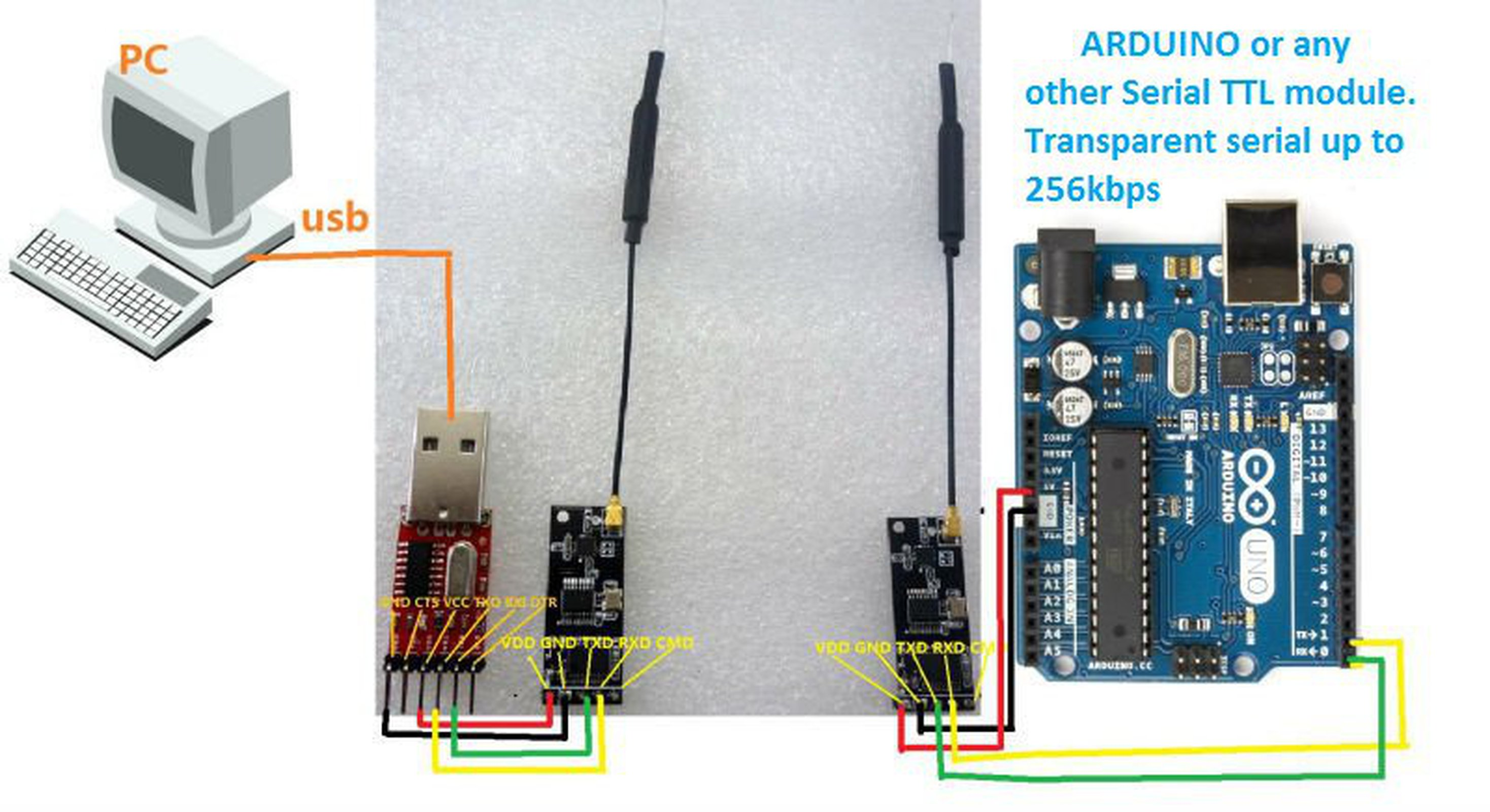 Wireless Serial Transparent Link Arduino Uart Ota From Vitor Market Usb Port Cable Connection Diagram Rs232 To 1