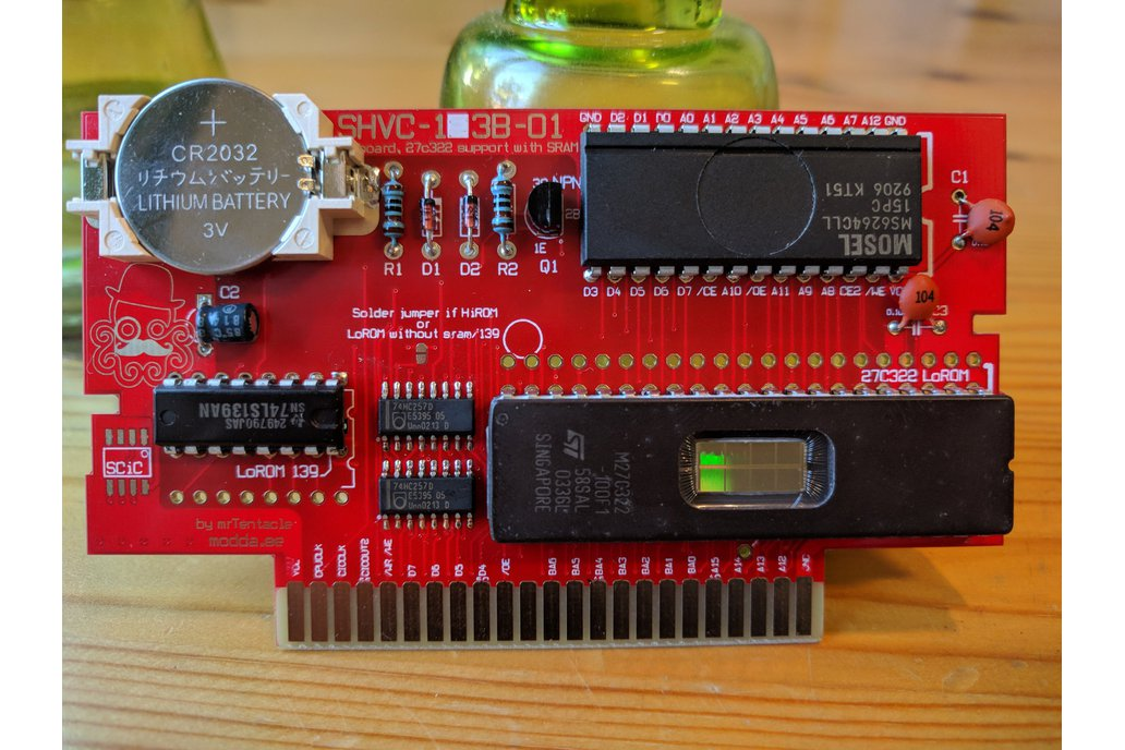 27C322 support SNES repro PCB build your own carts 3