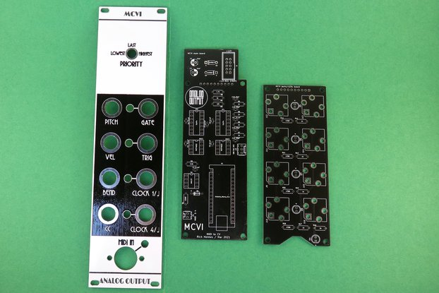 Analog Output MCVI MIDI to CV synth module