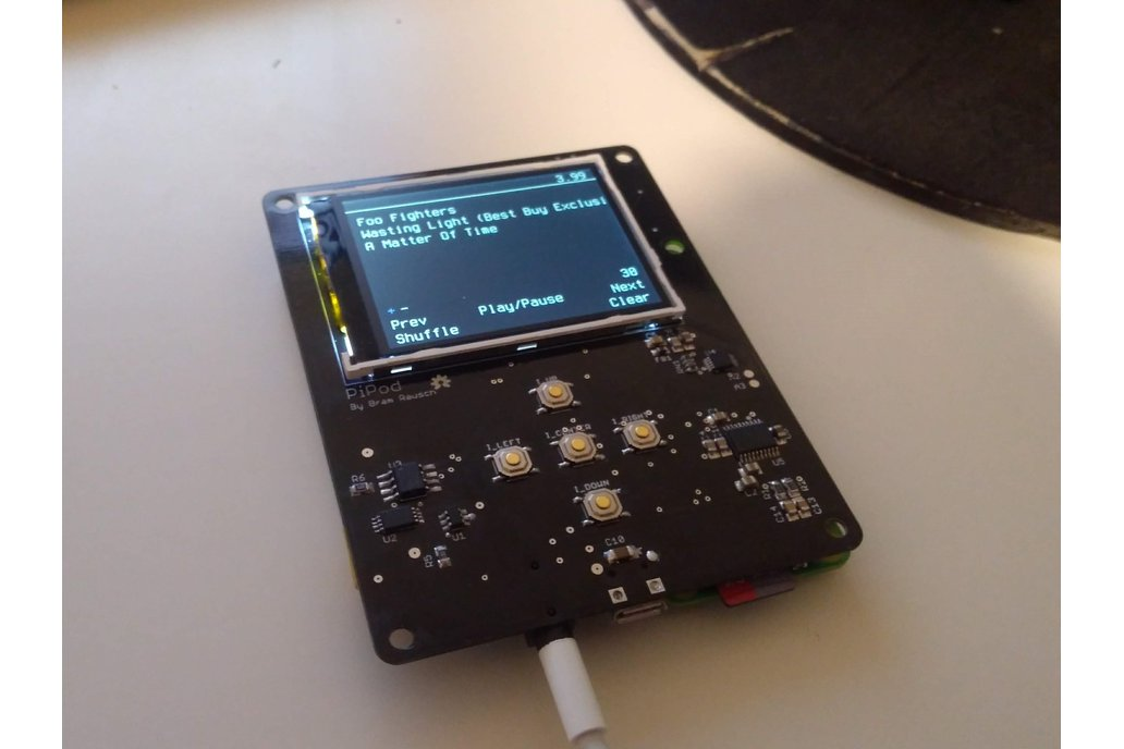 PiPod - Raspberry pi Zero portable music player 1