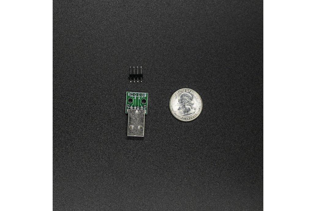 USB 2.0 Type A Breakout Module, Male Connector 1
