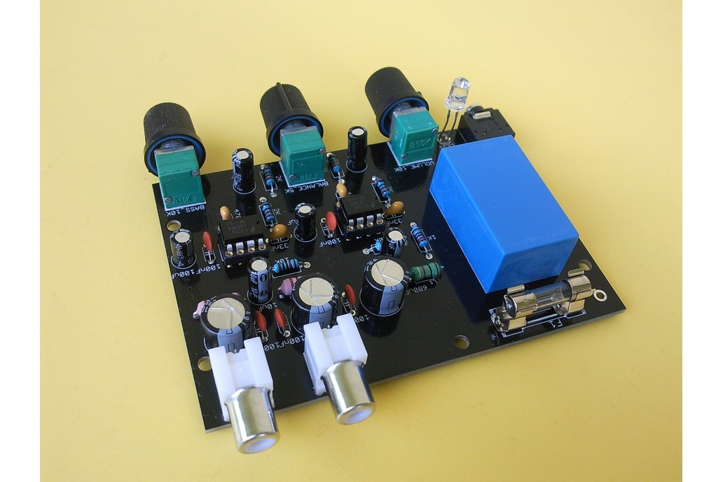 LM386 stereo amplifier with bass boosting DIY kit 4