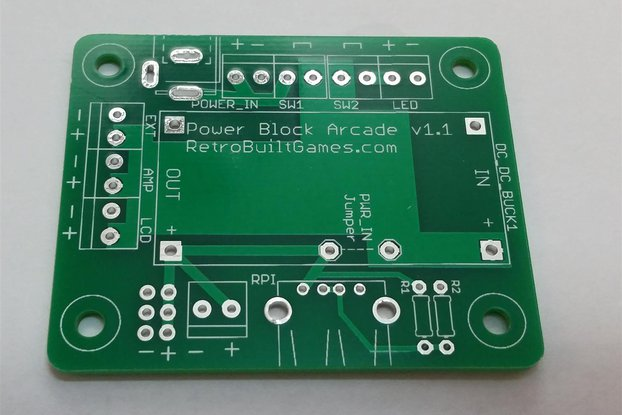 Power Block Arcade PCB