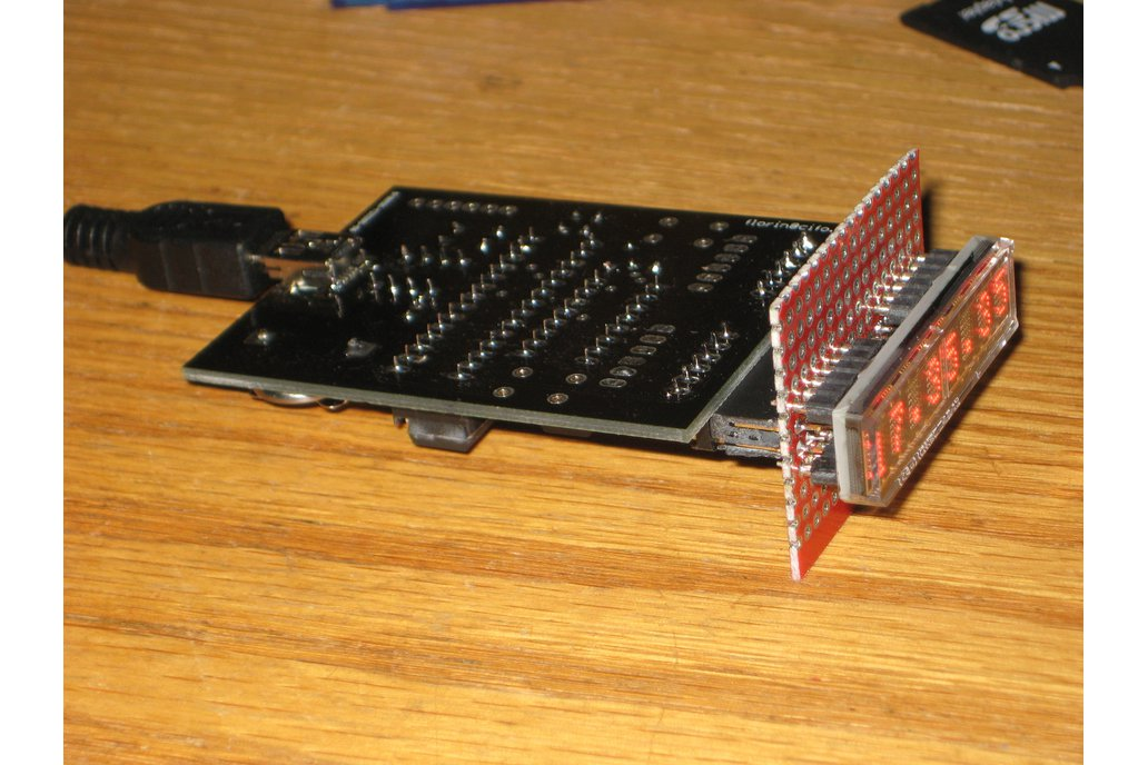 Clock kit with HDSP-2534 LED matrix display 6